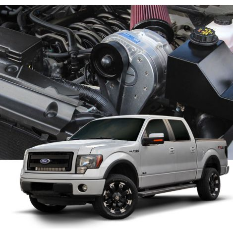 2014-11 Ford F-150 (5.0 4V) ProCharger Stage II Intercooled System with P-1SC-1
